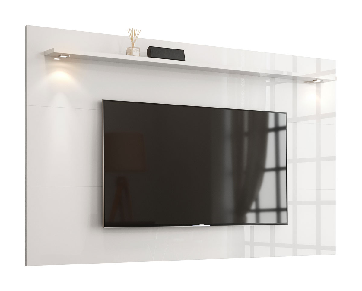 Painel para TV Aspen 2.2 Branco - MoveisAqui