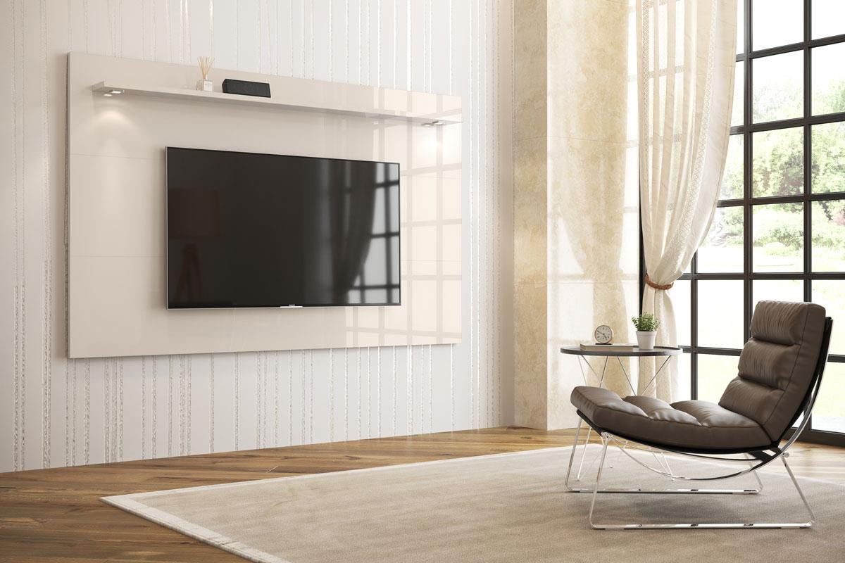Painel para TV Aspen 2.2 Off White - MoveisAqui