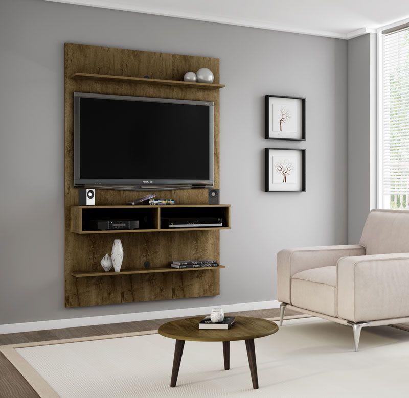 Painel para TV 47 polegadas Vega Madeira Rústica - Móveis Bechara