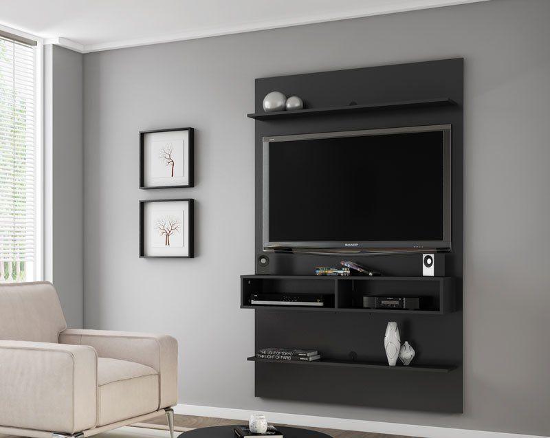 Painel para TV 47 polegadas Vega Preto - Móveis Bechara