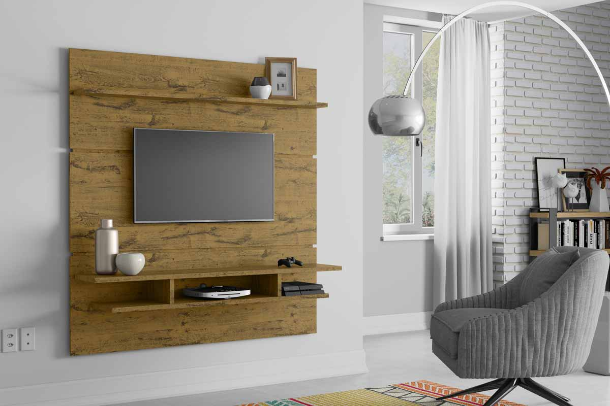 Painel para TV Adryan Nature - Patrimar Móveis