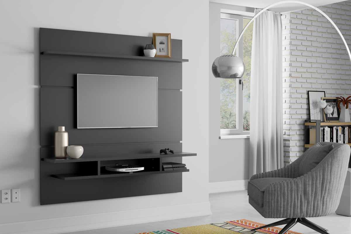 Painel para TV Adryan Preto - Patrimar Móveis