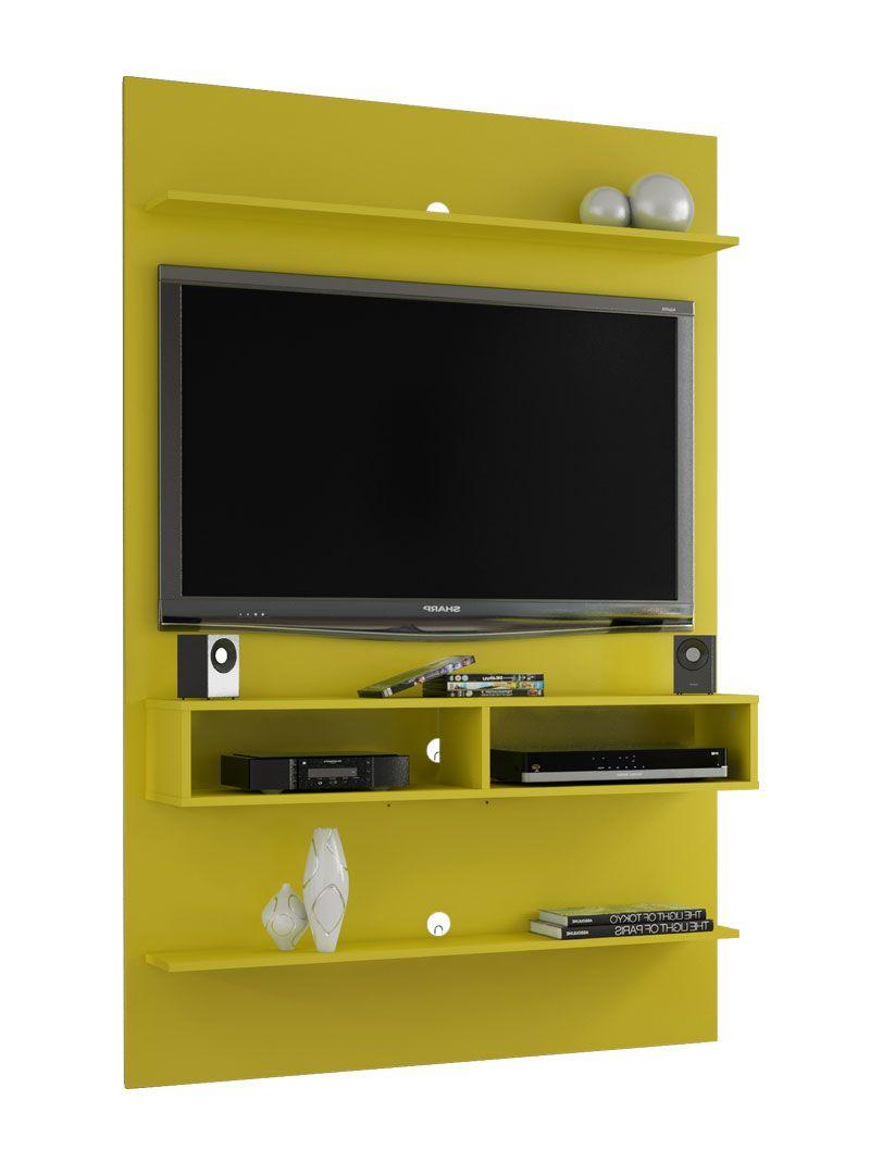 Painel para TV Amarelo 47 polegadas Vega - Móveis Bechara