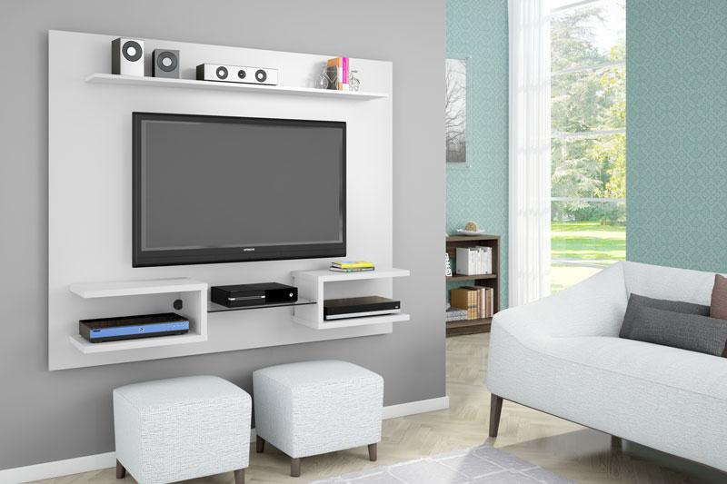 Painel para TV Atlas Branco - Móveis Bechara