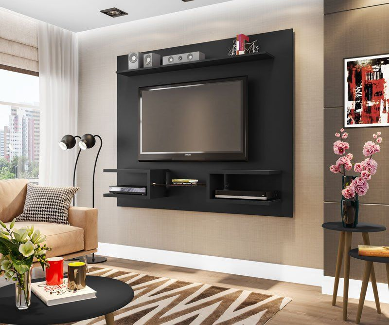 Painel para TV Atlas Preto - Móveis Bechara