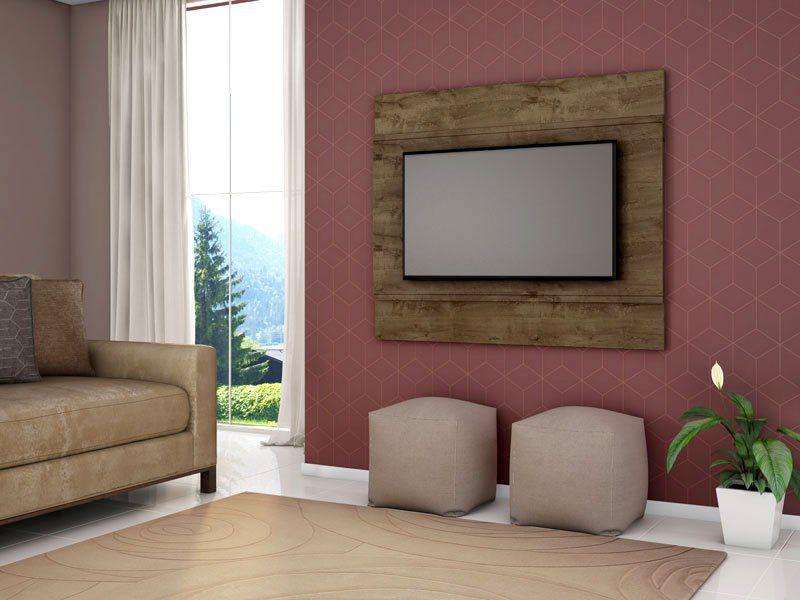 Painel para TV Bali Madeira Rústica - Móveis Bechara