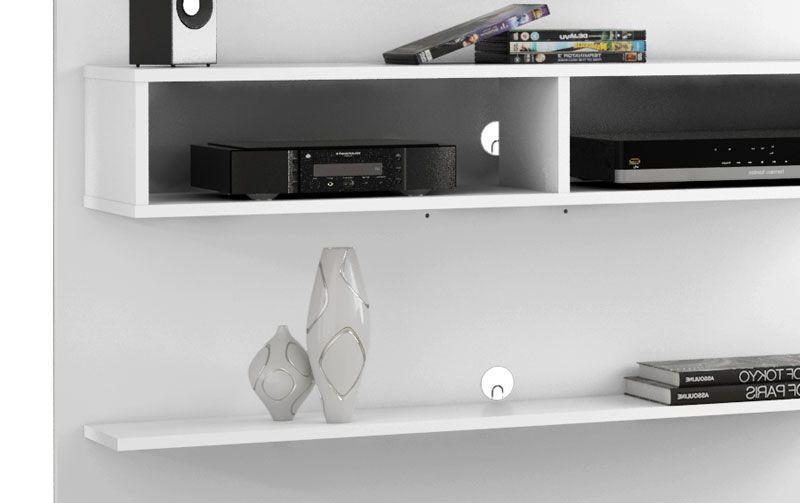 Painel para TV Branco 47 polegadas Vega - Móveis Bechara