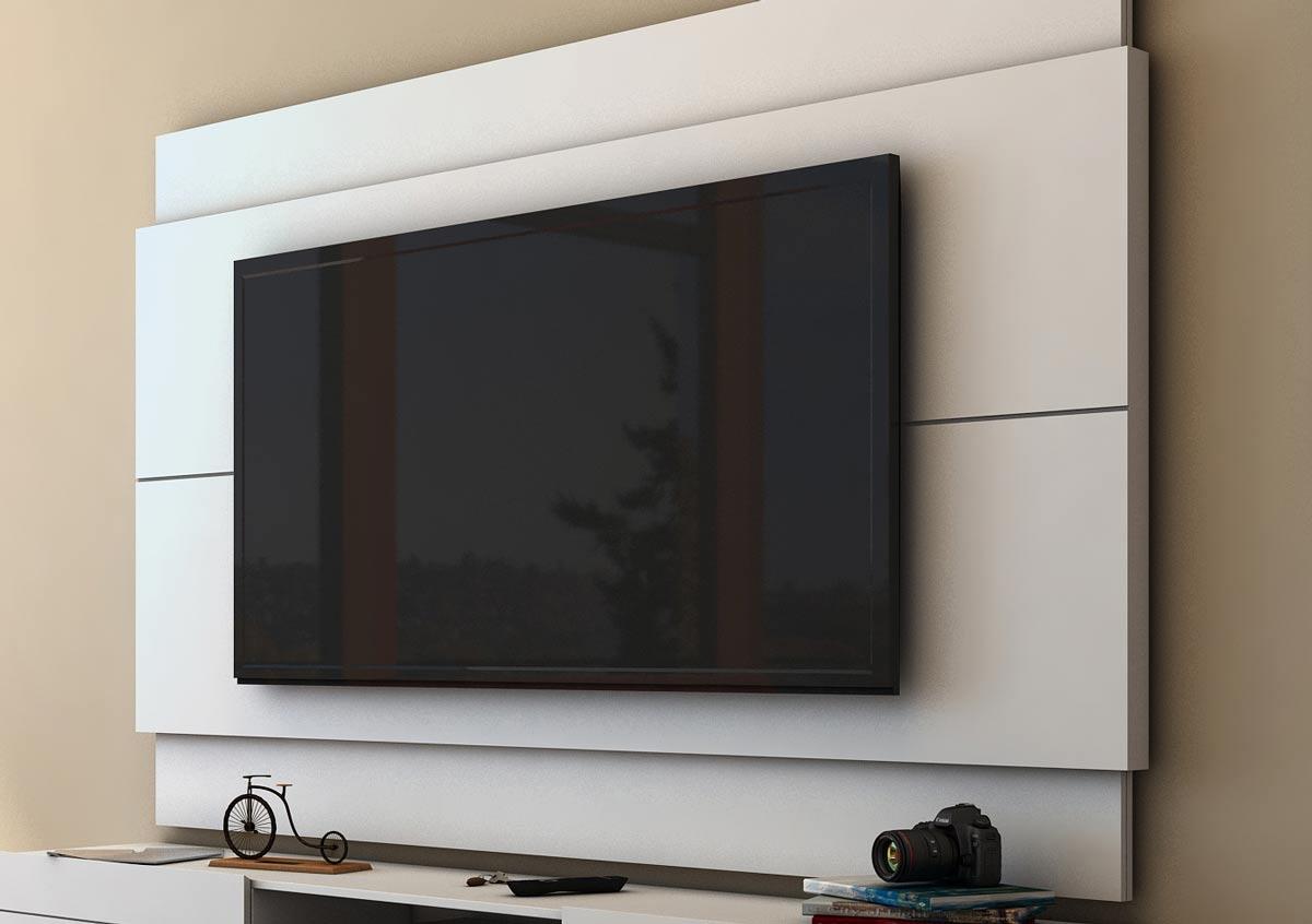 Painel para TV Classic 1.4 Branco Acetinado - Imcal Móveis