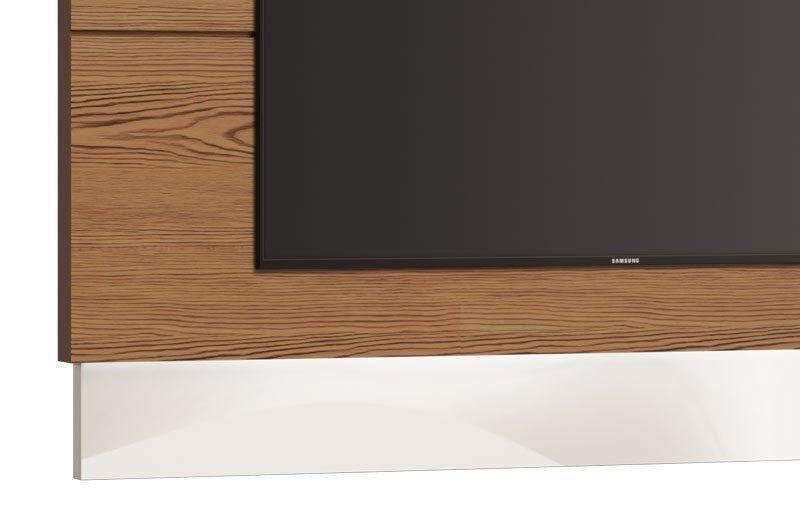 Painel para TV Classic 1.4 Freijó com Off White - Imcal Móveis