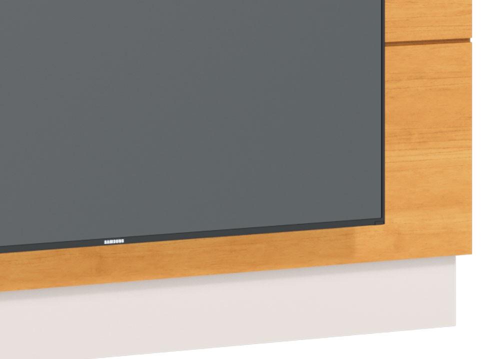 Painel para TV Classic 1.4 Nature com Off White - Imcal Móveis