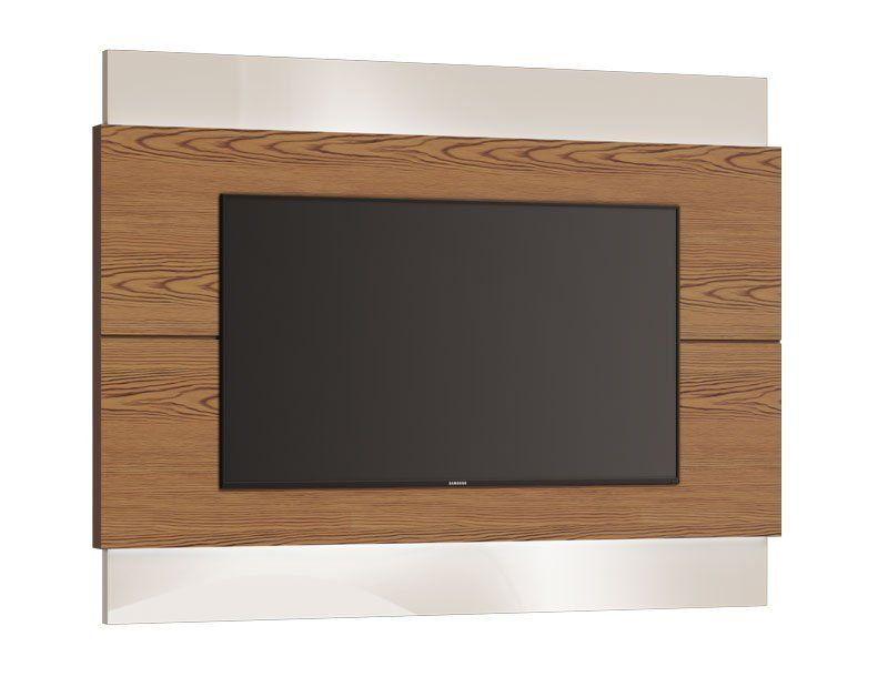 Painel para TV Classic 1.8 Freijó com Off White - Imcal Móveis