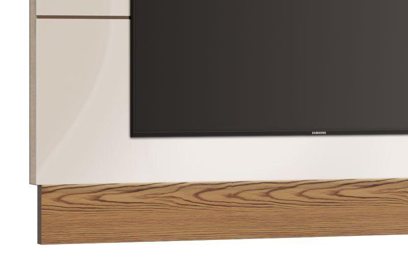 Painel para TV Classic 1.8 Off White com Freijó - Imcal Móveis