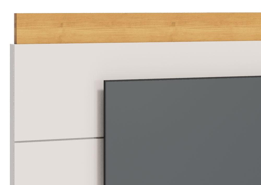 Painel para TV Classic 1.8 Off White com Nature - Imcal Móveis