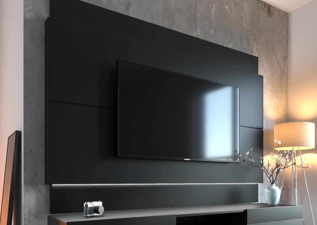 Painel para TV Classic 1.8 Preto - Imcal Móveis