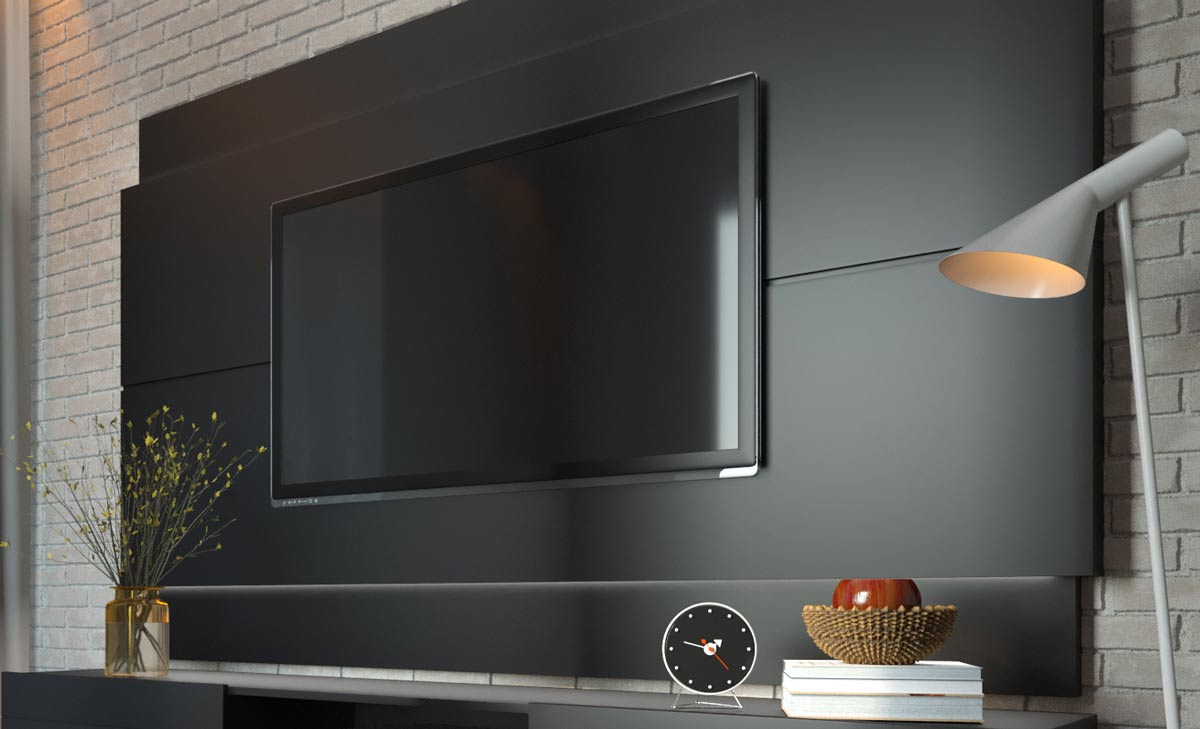 Painel para TV Classic 2.2 Preto - Imcal Móveis