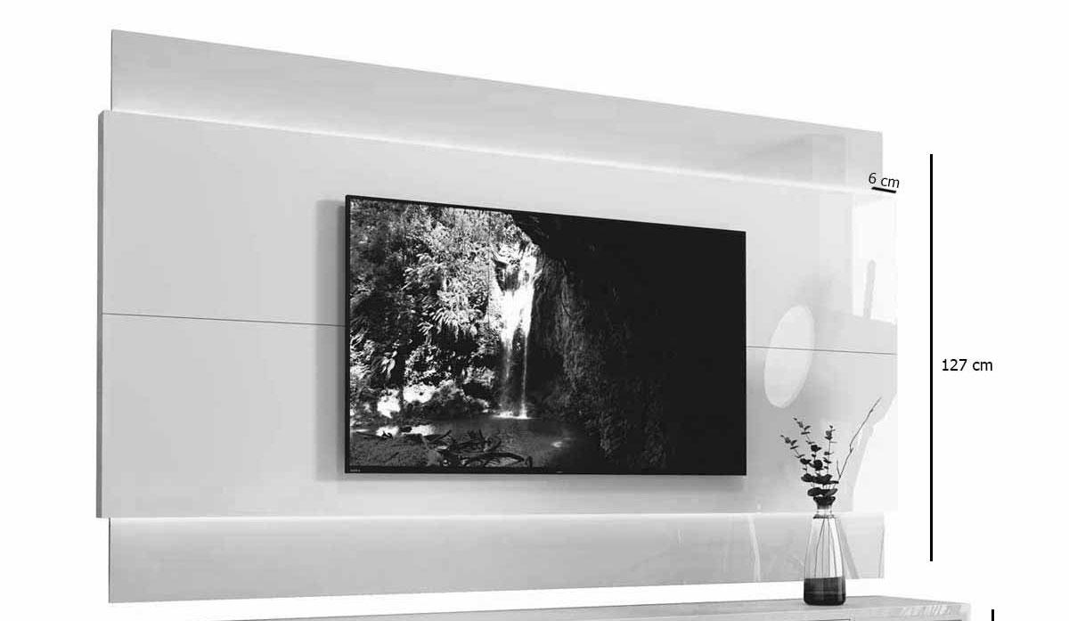 Painel para TV Delux 1.8 Off White - MoveisAqui