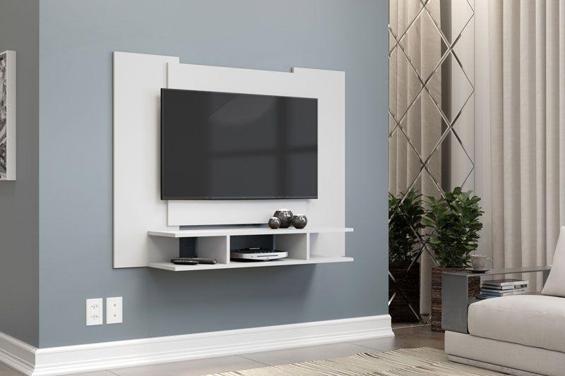 Painel para TV Quarto ate 48 polegadas EJ Branco - EJ Móveis