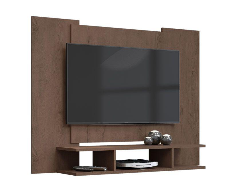 Painel para TV Quarto ate 48 polegadas EJ Castanho - EJ Móveis