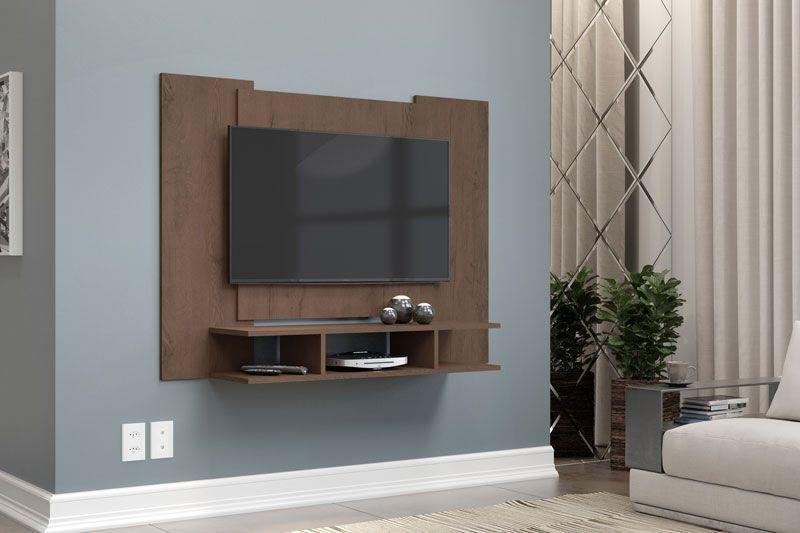 Painel para TV Quarto até 48 polegadas EJ Castanho - EJ Móveis