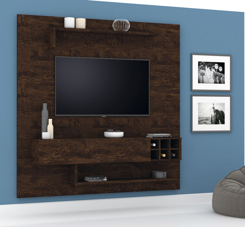 Painel para Tv Essenciale New Noce - Lukaliam Moveis