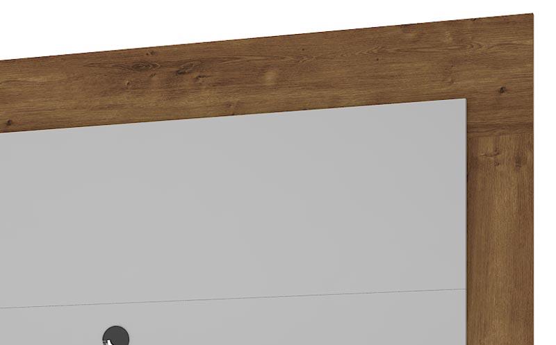 Painel para TV Gênesis Plus Canela com Off White - Mirarack