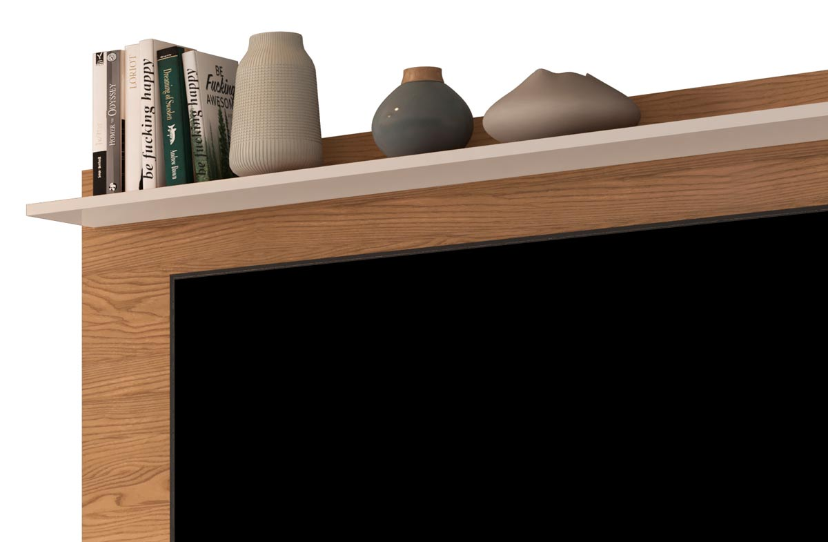 Painel para TV Gravity 1.6 Freijó com Off White - MoveisAqui