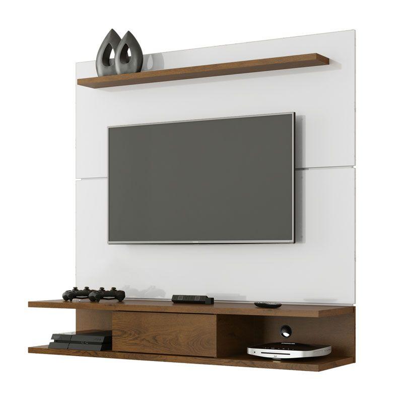 Painel para TV 52 polegadas Havana Branco com Malbec - EJ Móveis