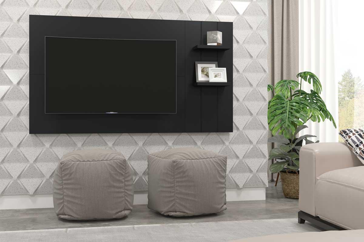 Painel para TV Itália Preto - Patrimar Móveis