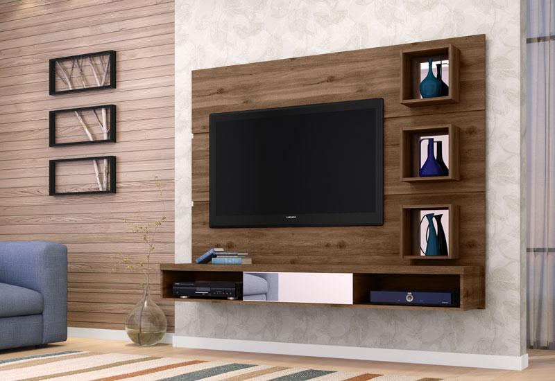 Painel para TV Leblon Canela - Germai Móveis  - MoveisAqui - Loja de móveis online!