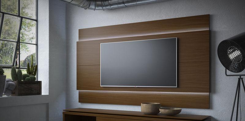 Painel para TV Lincoln 2.2 Castanho - Móveis Provincia