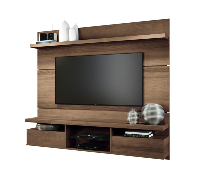 Painel para TV Livin 1.8 Macchiato Texture Alto Relevo HB Móveis