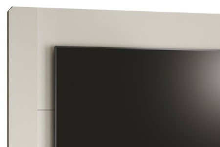 Painel para TV Luís XV Off White - Edn Móveis