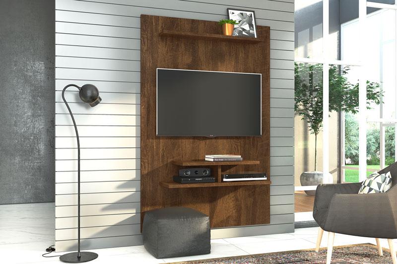 Painel para TV Moscou Canela - Lukaliam Móveis  - MoveisAqui - Loja de móveis online!