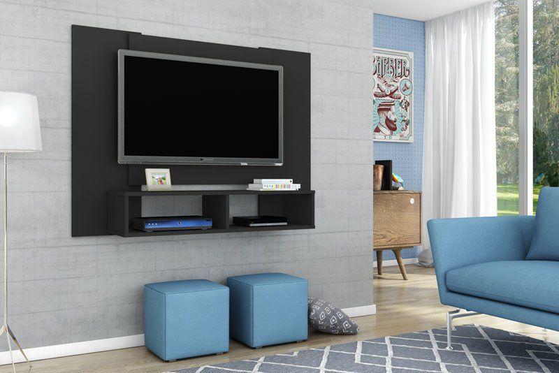 Painel para TV Navi Preto - Móveis Bechara