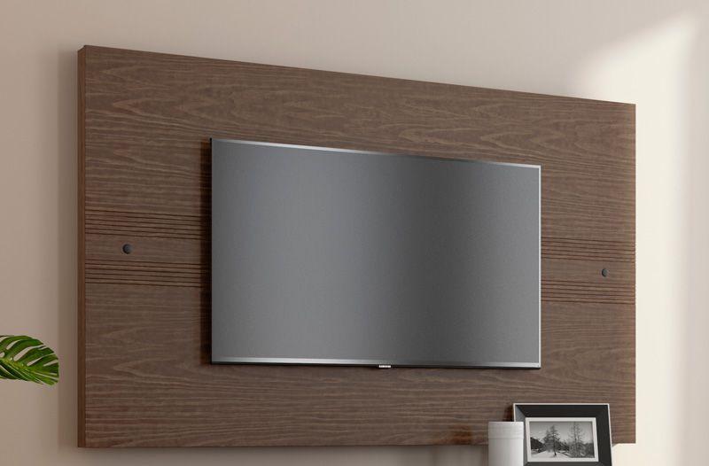 Painel para TV Prata Castanho - RV Móveis