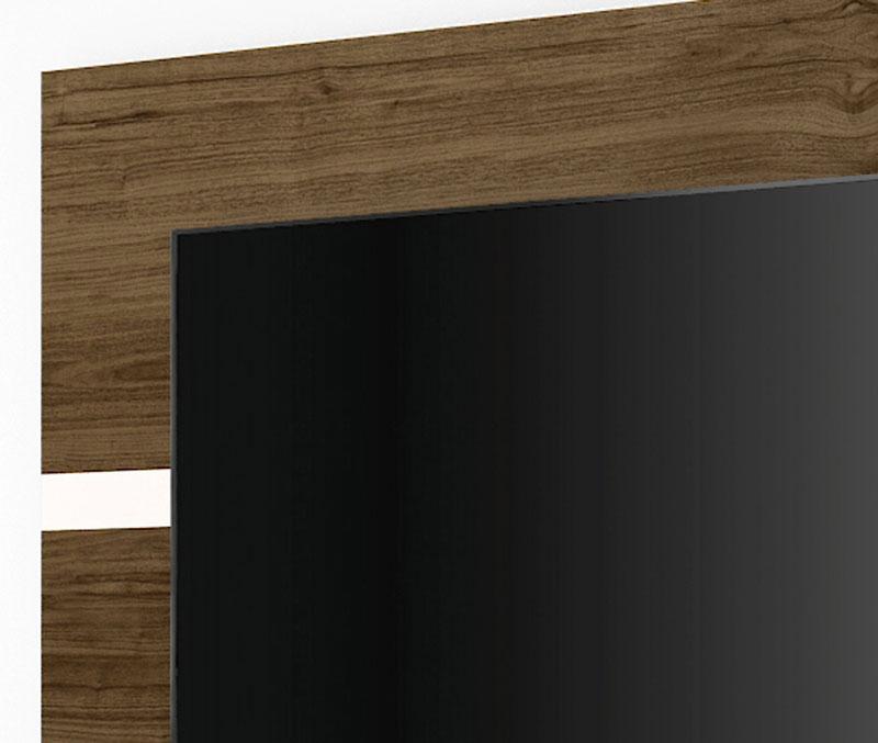 Painel para TV Refletto Imbuia com Off White - Imcal