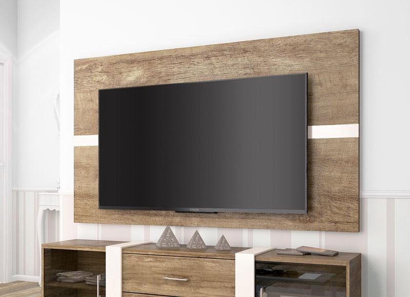 Painel para TV Refletto Madeira com Off White - Imcal