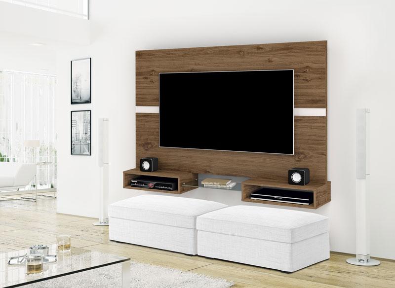 Painel para TV Replay Canela com Off White - Imcal