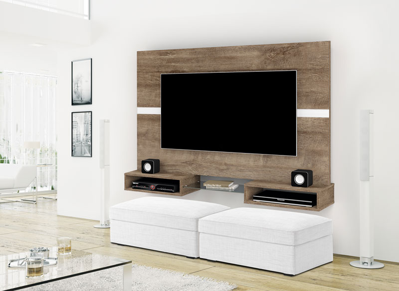 Painel para TV Replay Madeira com Off White - Imcal