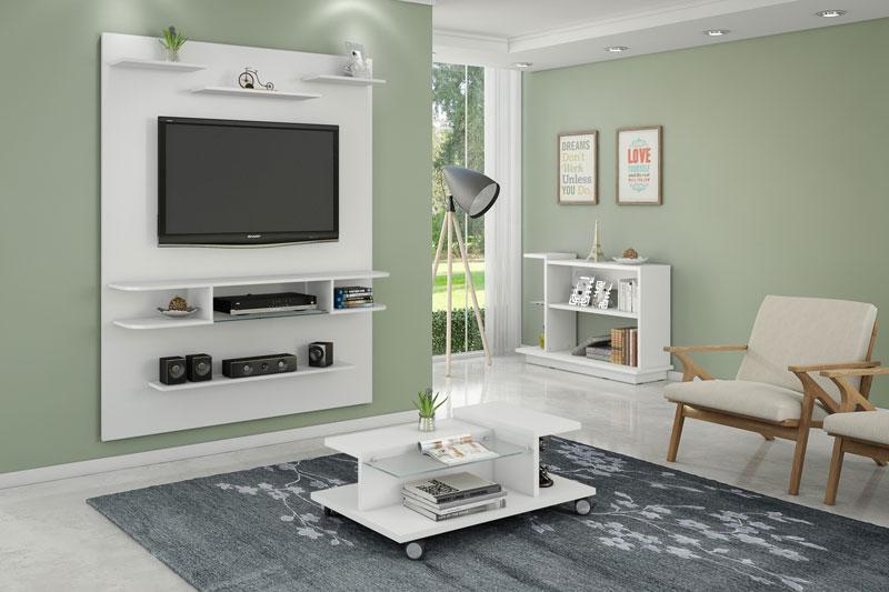 Painel para TV Sigma Branco - Móveis Bechara