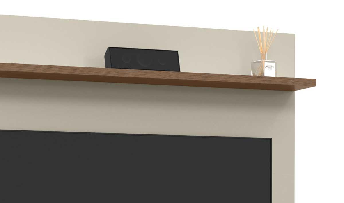 Painel para TV Trend Off White com Canelato - Patrimar Móveis