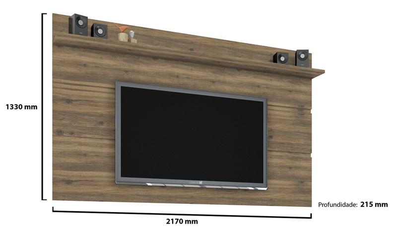 Painel para TV Vivare 1.8 Canela - Germai Móveis