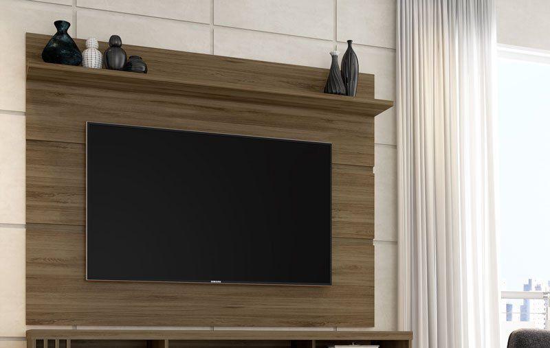 Painel para TV Vivare 1.8 Carvalho - Germai Moveis