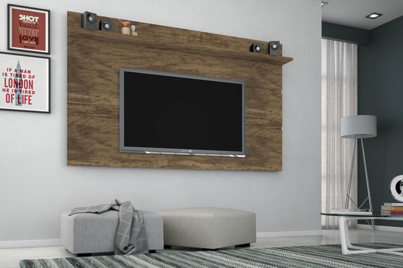 Painel para TV Vivare 1.8 Gold Wood - Germai Móveis