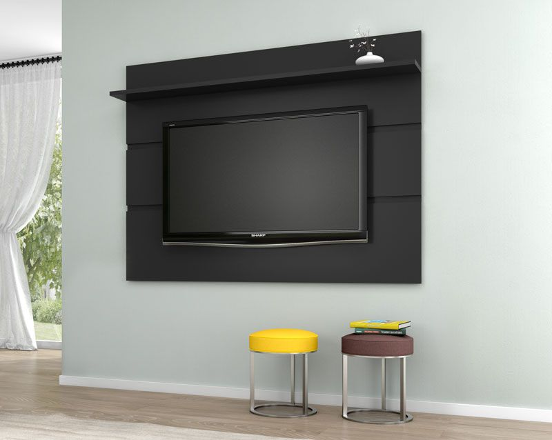 Painel para TV Vivare 1.8 Preto - Germai Móveis