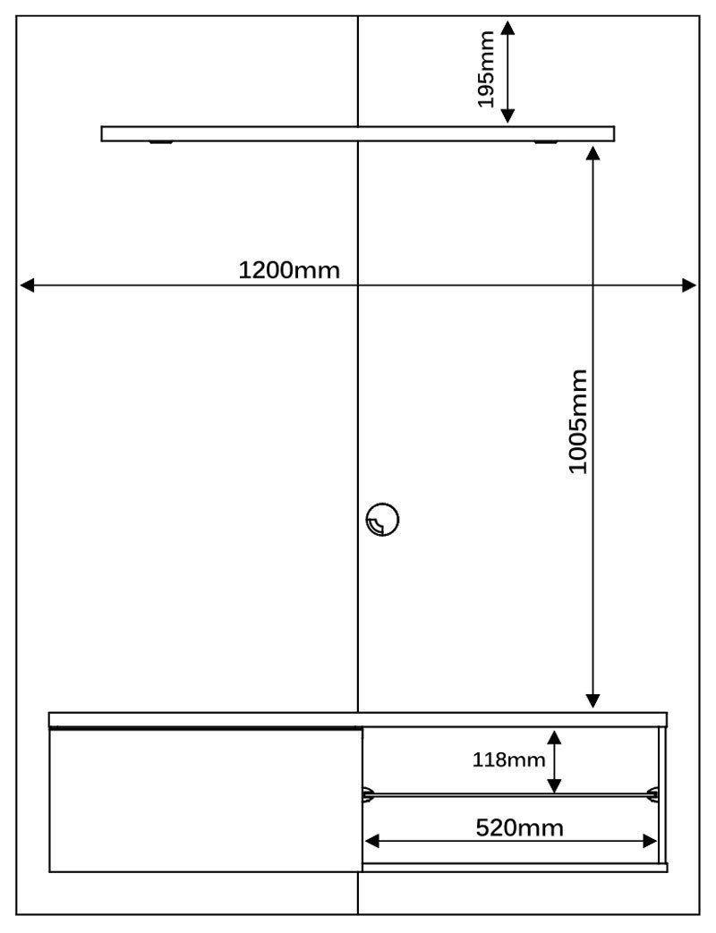 Painel Suspenso Lumia Plus Rústico - Mirarack