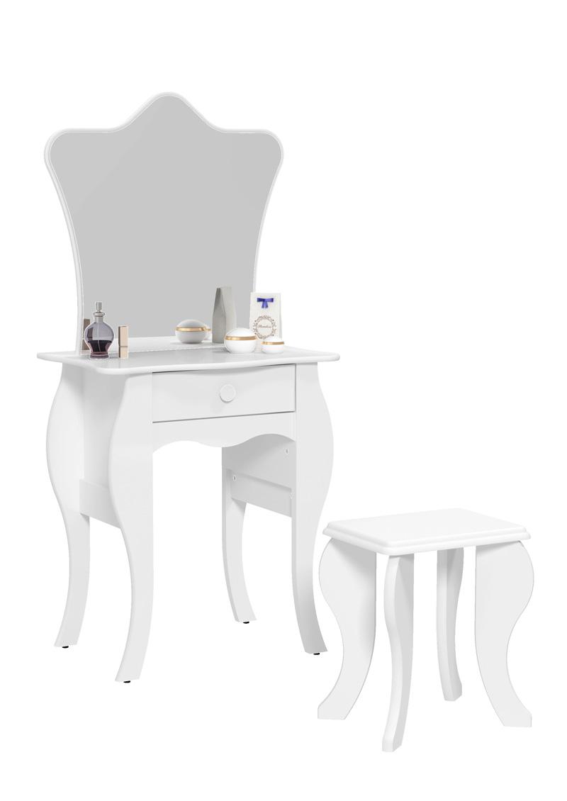 Penteadeira Bambini com Banqueta Branco - Patrimar Móveis