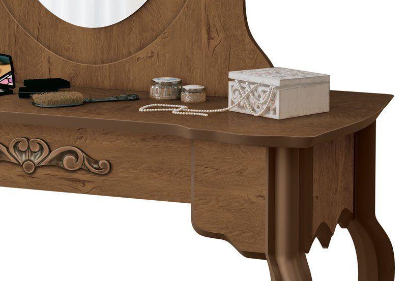 Penteadeira com Banqueta Luis XV Naturale - EDN Móveis