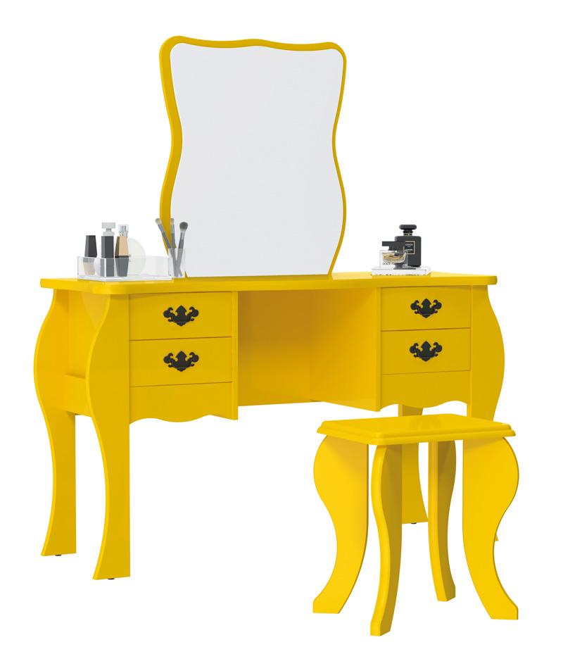 Penteadeira Duda Amarelo - Patrimar Móveis  - MoveisAqui - Loja de móveis online!
