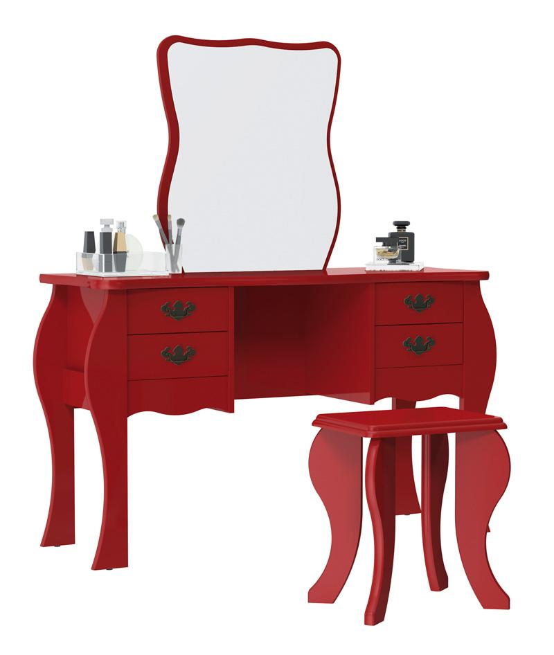Penteadeira Duda Vermelho - Patrimar Móveis  - MoveisAqui - Loja de móveis online!
